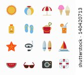 summer icons and vacation icons ... | Shutterstock .eps vector #140420713