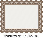certificate or diploma template ... | Shutterstock .eps vector #140422207