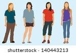 teen girls | Shutterstock .eps vector #140443213
