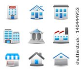 building icons | Shutterstock .eps vector #140444953