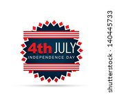 stylish 4th of july badge design | Shutterstock .eps vector #140445733