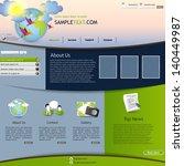 eco website template | Shutterstock .eps vector #140449987