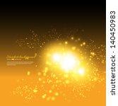 vector stardust on dark yellow... | Shutterstock .eps vector #140450983