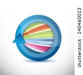 colorful arrow design... | Shutterstock . vector #140460013