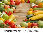 raw organic fruits and... | Shutterstock . vector #140463703