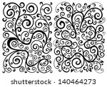 set of two vector floral... | Shutterstock .eps vector #140464273