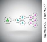 pyramid of hexagonal cells....   Shutterstock .eps vector #140475277