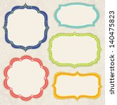 set of colorful frames | Shutterstock .eps vector #140475823
