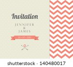 vintage card  for invitation or ... | Shutterstock .eps vector #140480017