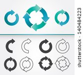 a set of vector arrows circle... | Shutterstock .eps vector #140484223