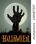 halloween background | Shutterstock .eps vector #140487337
