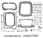 doodle frames and design... | Shutterstock .eps vector #140527987