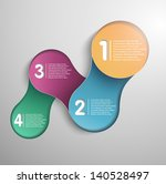 modern design steps  vector | Shutterstock .eps vector #140528497