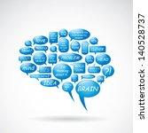 brain from text balloons  ... | Shutterstock .eps vector #140528737