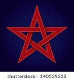 red pentagram on a blue... | Shutterstock .eps vector #140529223