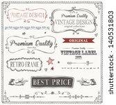 vintage frames and design... | Shutterstock .eps vector #140531803