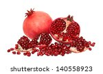 one and a half pomegranate with ... | Shutterstock . vector #140558923