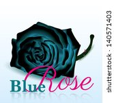 blue rose on white background... | Shutterstock .eps vector #140571403