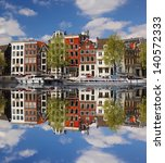 Amsterdam With Main Canal In...