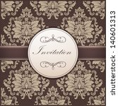 vector invitation card with... | Shutterstock .eps vector #140601313