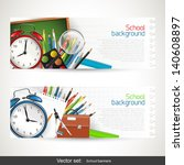 back to school   set of vector... | Shutterstock .eps vector #140608897