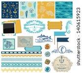 scrapbook design elements of... | Shutterstock .eps vector #140615923