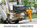Worker Of Municipal Recycling...