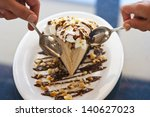 couple share a slice of... | Shutterstock . vector #140627023