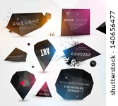 labels vector set  modern style.... | Shutterstock .eps vector #140656477