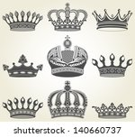set crowns in vintage style | Shutterstock .eps vector #140660737