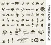 Restaurant icon set   Shutterstock vector #140664637