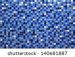 Mosaic Blue Small Colorful Til...