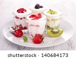 fruits and yogurt | Shutterstock . vector #140684173