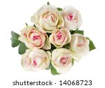 flower rose bouquet on white... | Shutterstock . vector #14068723