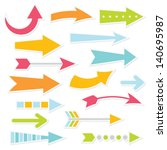 vector arrows set | Shutterstock .eps vector #140695987