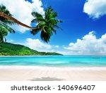 Beach On Mahe Island In...