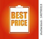 best price poster  vector... | Shutterstock .eps vector #140700313