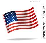 american flag. vector... | Shutterstock .eps vector #140703397