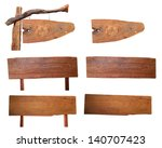 wood sign isolated on... | Shutterstock . vector #140707423