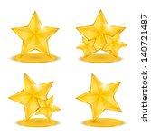 golden stars  vector eps10... | Shutterstock .eps vector #140721487