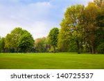 green field and trees. | Shutterstock . vector #140725537