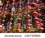 chinese new year decorations in ...   Shutterstock . vector #140739883