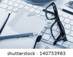 office supplies and computer... | Shutterstock . vector #140753983