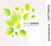 vector nature green leaves... | Shutterstock .eps vector #140758903