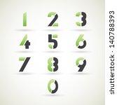 numbers set  vector. | Shutterstock .eps vector #140788393