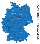 germany map | Shutterstock .eps vector #140814697
