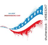 4th july american independence... | Shutterstock .eps vector #140823247