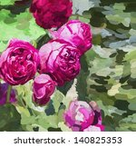Oil Painting Pink Roses