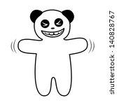 funny panda waving his hands | Shutterstock .eps vector #140828767