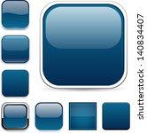 set of blank dark blue square... | Shutterstock .eps vector #140834407